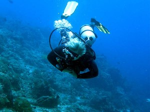 scuba diving around banggi